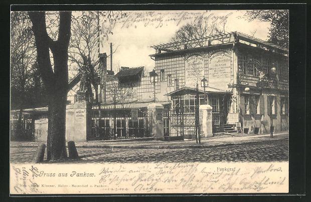 AK Berlin-Pankow, Ansicht vom Gasthaus zum Pankgraf