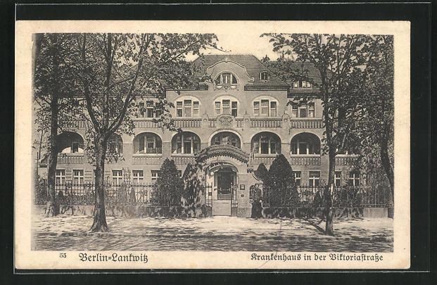 AK Berlin-Lankwitz, Krankenhaus in der Viktoriastrasse