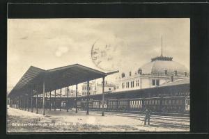 AK Constantinople, Gare des Chemins de fer Orientaux, Bahnhof