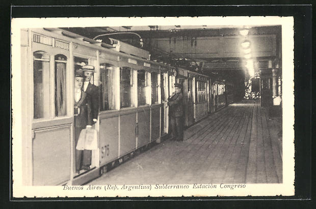 AK Buenos Aires, Subterraneo Estaciòn Congreso, U-Bahn-Station