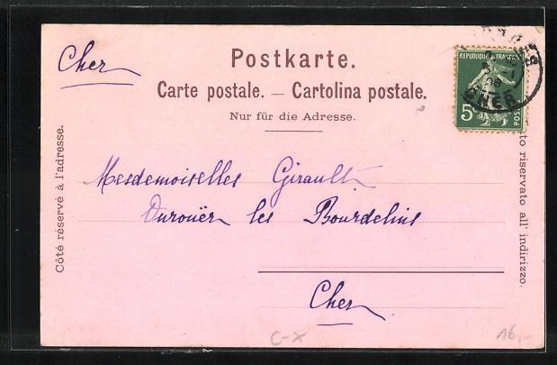 Lithographie Montreux, Hotel-Pension Joli-Site, Grand Quai du Cygne 1