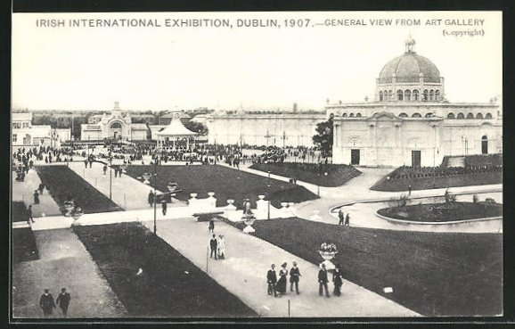 AK Dublin, Ausstellung Irish International Exhibition 1907, Art Gallery