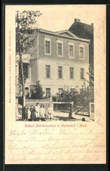 AK Berlin-Hermsdorf, Ansicht der Höheren Mädchenschule