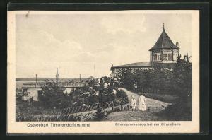 AK Ostseebad Timmendorferstrand, Strandpromenade bei der Strandhalle