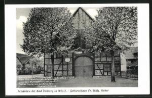 AK Alhausen / Westf., Geburtshaus v. Fr. Wilh. Weber