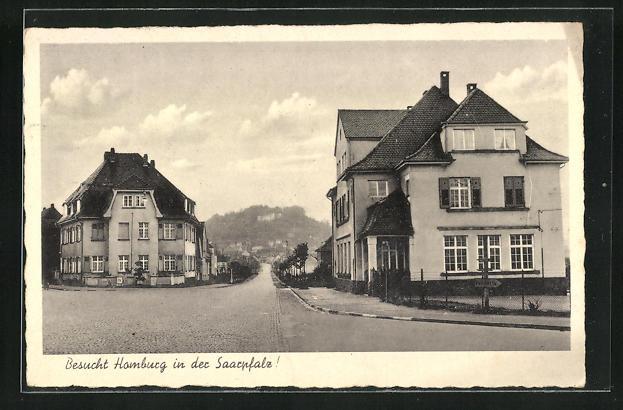 AK Homburg / Saarpfalz, Strassenpartie mit Häusern