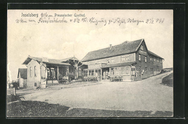 AK Inselberg, Preussischer Gasthof, Eckfassade
