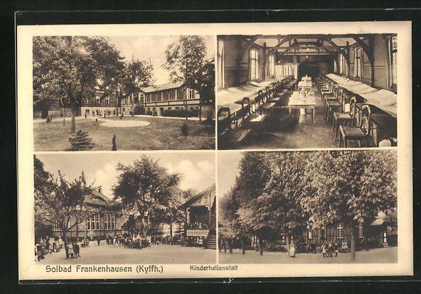 AK Frankenhausen / Kyffh., Kinderheilanstalt verschiedene Aussenansichten, Schlafsaal