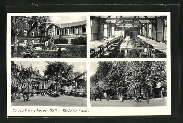 AK Frankenhausen / Kyffh., Kinderheilanstalt, Schlafsaal, Aussenansichten