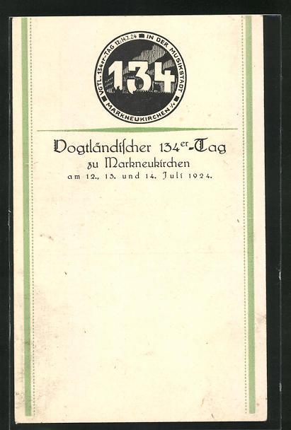 AK Markneukirchen, Vogtländer 134er-Tag, Juli 1924