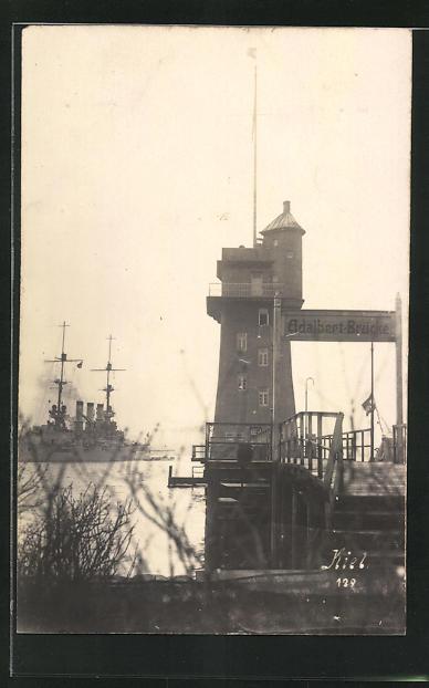 Foto-AK Kiel, Adalbertbrücke, 1926