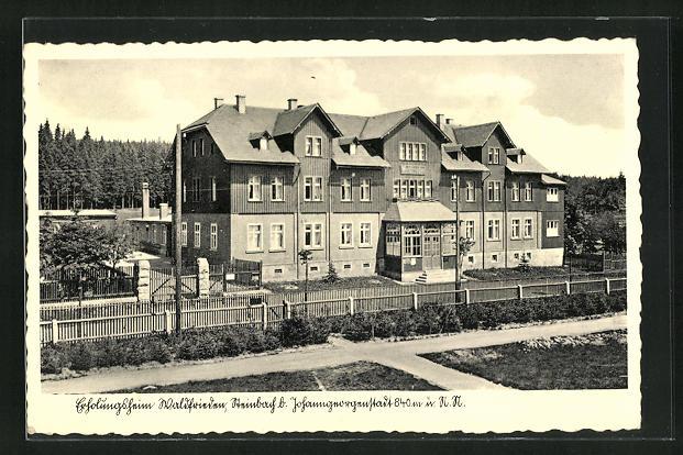 AK Steinbach, Kurhotel Waldfrieden, Hauptfassade
