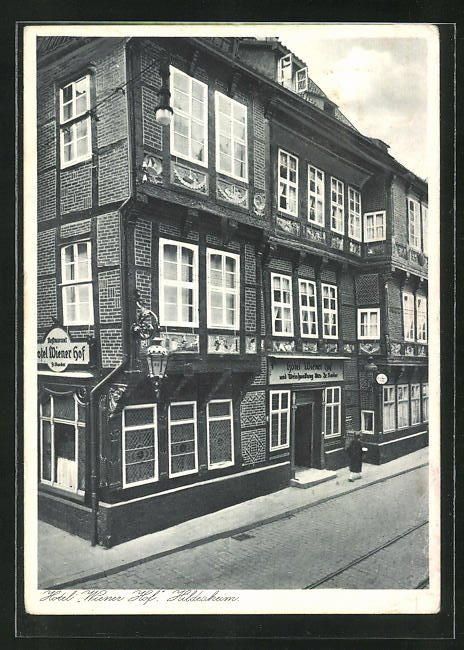 AK Hildesheim, Hotel Wiener Hof, Eckfassade