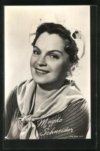 AK Schauspielerin Magda Schneider in dem Film Droom-eiland