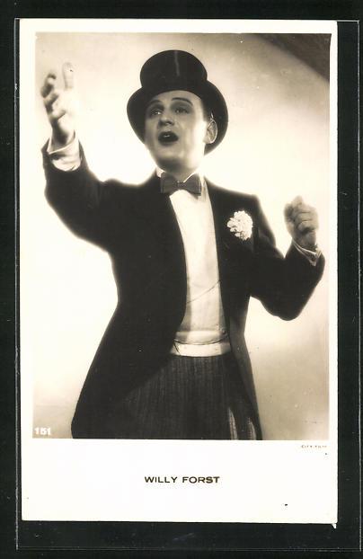 AK Schauspieler Willy Forst im Kostüm einer Filmrolle