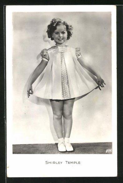 AK Schauspielerin Shirley Temple im Kostüm einer Filmrolle