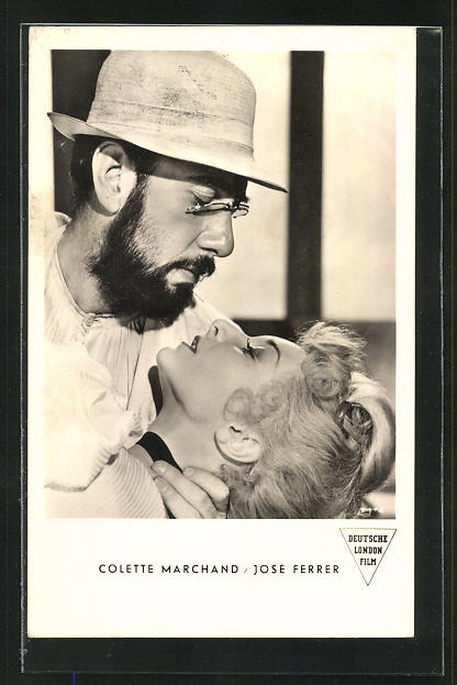 AK Schauspieler Colette Marchand und Josè Ferrer in dem Film Moulin Rouge