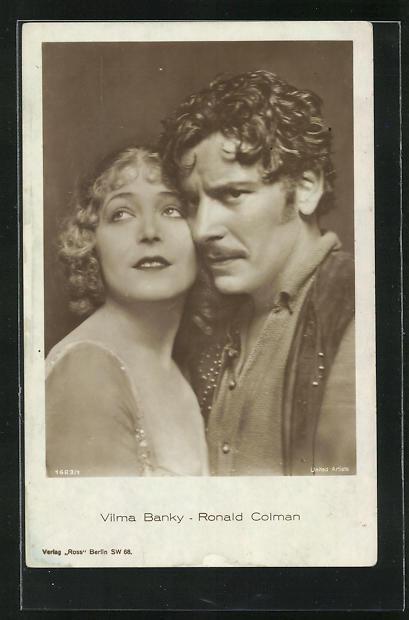 AK Schauspieler Vilma Banky und Ronald Colman in einer gemeinsamen Filmrolle