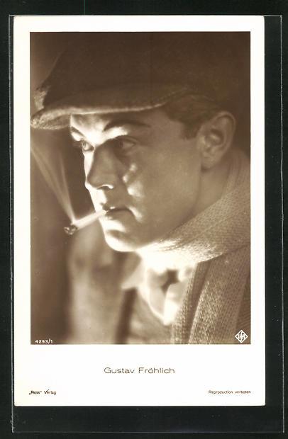 AK Schauspieler Gustav Fröhlich im Kostüm einer Filmrolle