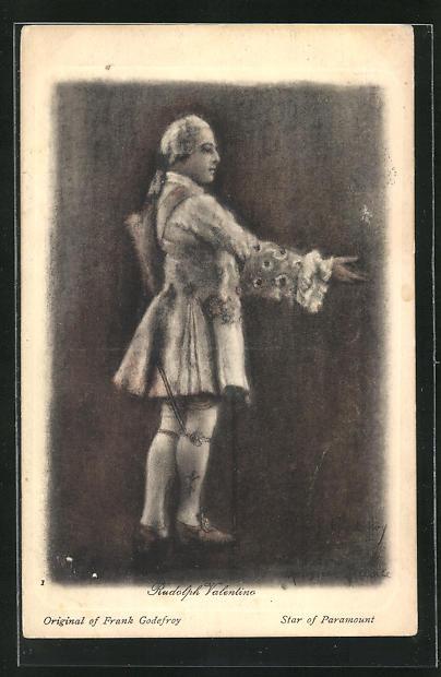 Künstler-AK Rudolph Valentino im Kostüm einer Bühnenrolle