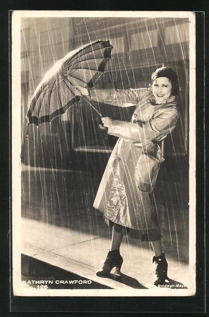 AK Schauspielerin Kathryn Crawford im Kostüm einer Filmrolle