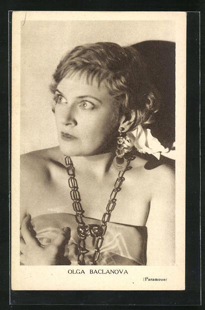 AK Schauspielerin Olga Baclanova im Kostüm einer Filmrolle