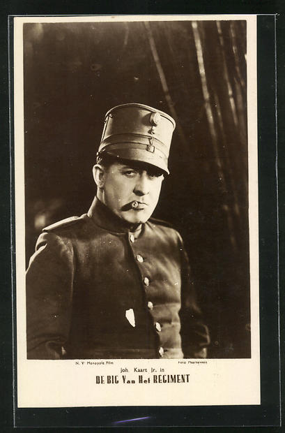 AK Schauspieler Johan Kaart im Kostüm einer Filmrolle