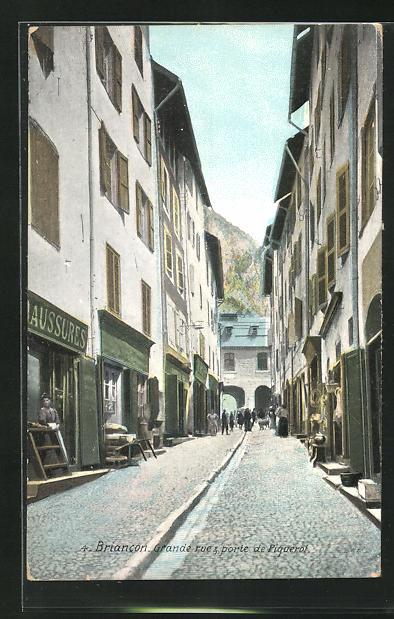 AK Briancon, Grande Rue & Porte de Piquerol