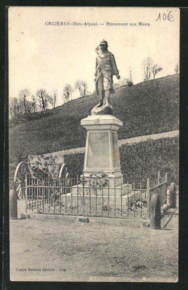 AK Orcieres, Monument aux Morts