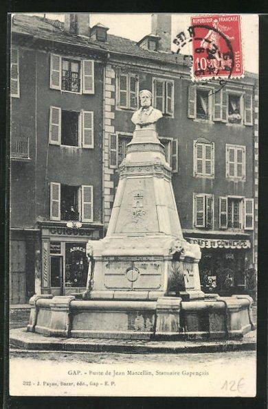 AK Gap, Buste de Jean Marcellin, Statuaire Gapencais