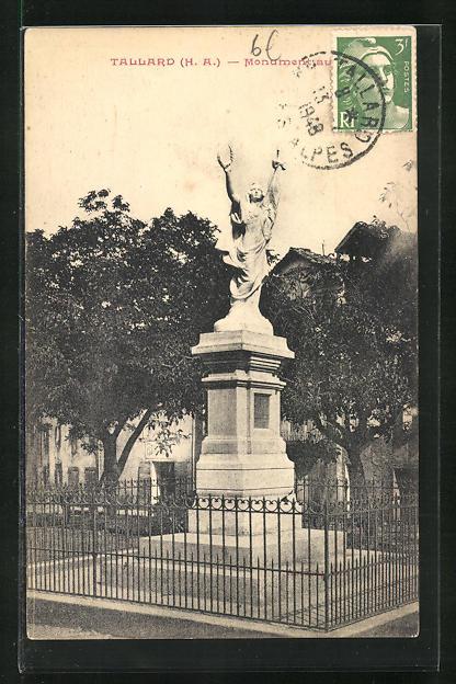 AK Tallard, Monument aux Morts