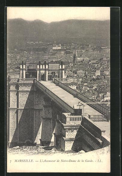 AK Marseille, L`Ascenseur de Notre-Same de la Garde