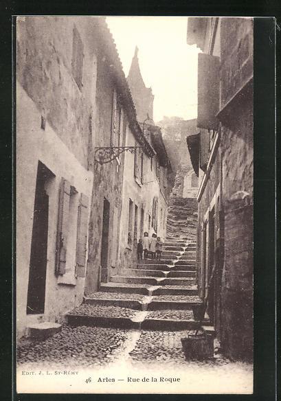 AK Arles, Rue de la Roque, Treppenpartie