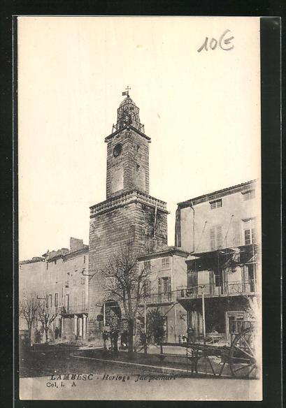 AK Lambesc, Horloge Jacquemart, Uhrturm