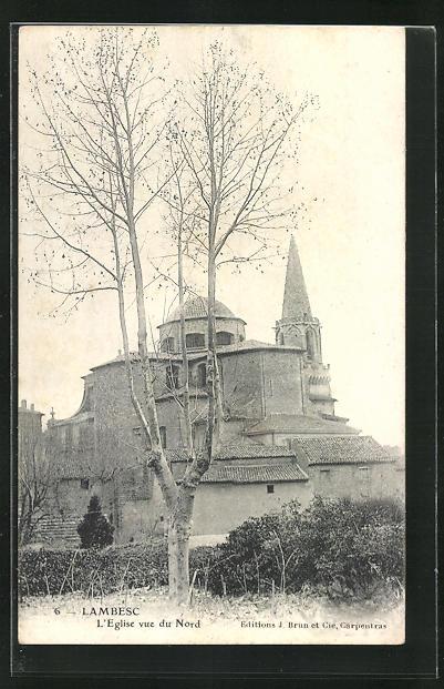 AK Lambesc, L`Eglise vue du Nord