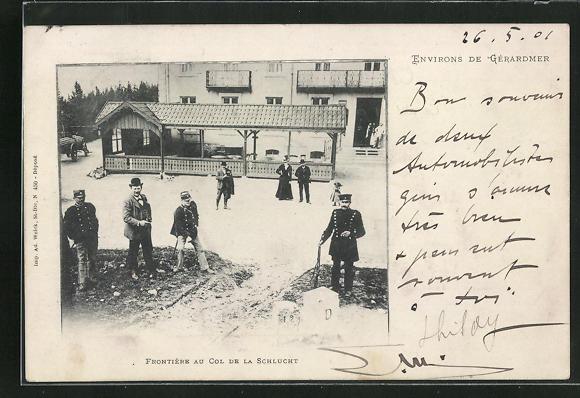AK Col de la Schlucht, Menschen und Soldaten an der Grenze