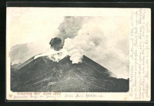 AK Vulkan Ätna, Eruptionen im Jahr 1892