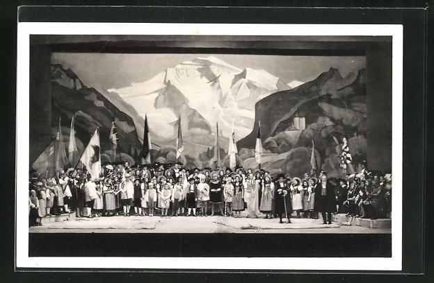 AK Aarau, Eidg. Jubiläums-Turnfest 1932, Szene aus dem 1. Akt