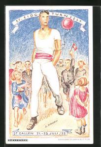 AK St. Gallen, 57. Eidg. Turnfest 1922, Turner mit Pfeife