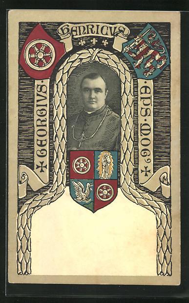 AK Mainz, Georgius im Portrait, Ortswappen