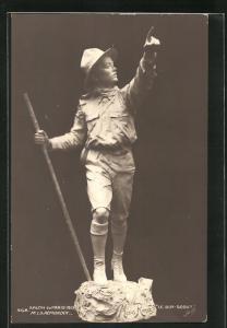 AK Statue eines Boy-Scout, Pfadfinder