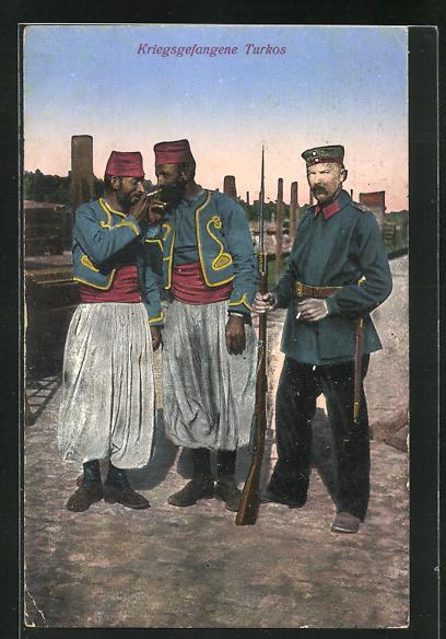 AK Kriegsgefangene Turkos
