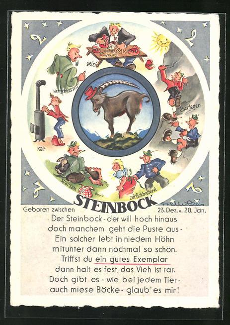 AK Sternzeichen Steinbock, Eigenschaften