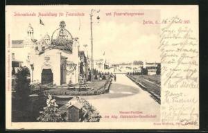 AK Berlin, Internationale Ausstellung für Feuerschutz und Feuerrettungswesen 1901, Nernst-Pavillon