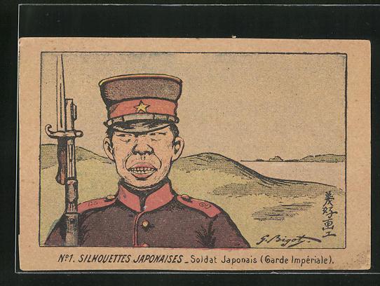 AK Silhouettes Japonaises, japanischer Soldat
