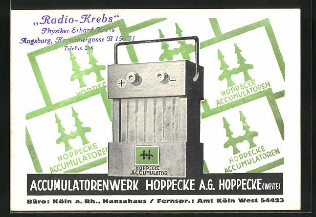 AK Köln a. Rh., Accumulatorenwerk Hoppecke A. G., Hansahaus, Accumulator