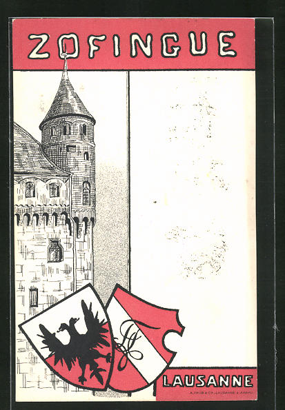 AK Lausanne, Studentenwappen Zofingue, Festungspartie
