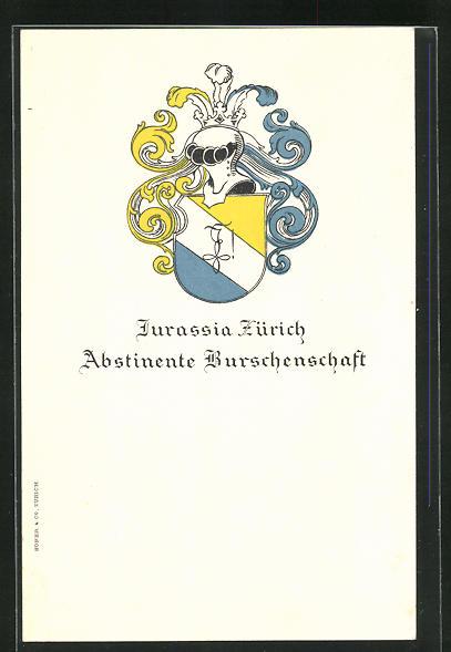 AK Zürich, Studentenwappen Jurassia Zürich, Abstinente Burschenschaft