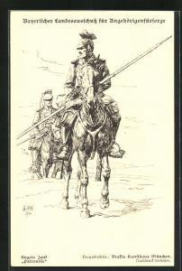 Künstler-AK Angelo Jank: Soldaten zu Pferde auf Patrouille