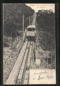 AK Como, Funicolare con vista di Brunate, Bergbahn